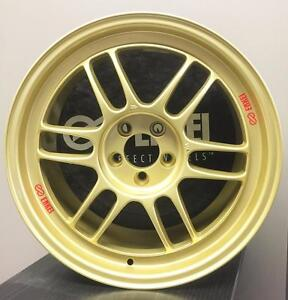 "17"" 5x100 Enkei RPF1 Gold Silver + 215/45R17 package for Scion FRS Subaru BRZ AE86"
