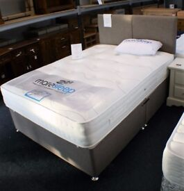 brand new 4.6 bed with base,head board and mattress