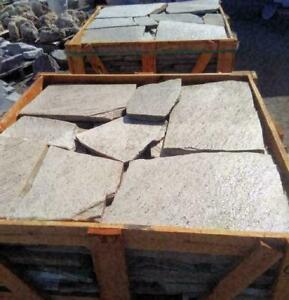 Flagstone of natural quartzite! Colors: bronze, white, purple, golden. Pick up in Barrie. Delivery for extra charge.
