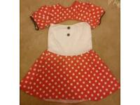 Minnie Mouse Halloween DressUp Outfit Size 8