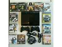 500gb Super Slim PS3 with 12 games and 2 controllers
