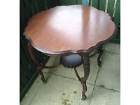 Antique occasional table dark wood colour