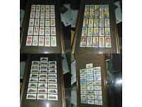 Set of four framed Wills cigarette cards