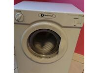 White knight tumble dryer 3kg 2 heat setting with condenser box