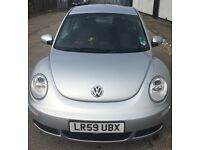 VW Silver 1.6 petrol beetle. 41,000 MILES ONLY. Full service Hx, tax until 1st September 2017