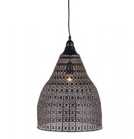 Brand New Moroccan Patterned Metal Ceiling Light