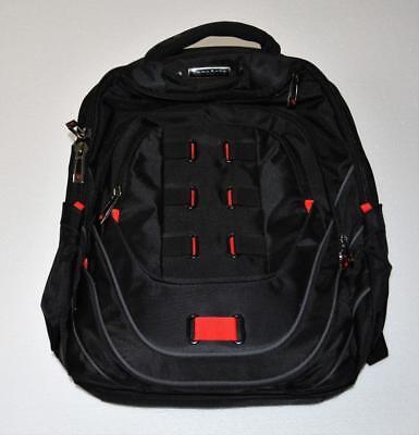 "$110 NEW Samsonite Tectonic PFT 17"" Laptop Backpack Black /Red 19"" x 14"" x 9"""