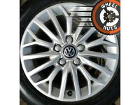 """16"""" Genuine Audi A3 alloys Golf Caddy Leon Pirelli tyres."""