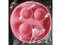 Pink silicon Bakeware