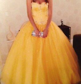 Mori Lee yellow prom dress size 6. OFFERS WELCOME