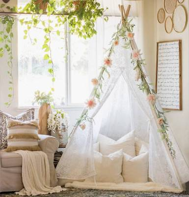 Lace Girls Teepee Tent Kids Adults Indoor Outdoor Wedding Party Garden Decor](Tent Decorations)
