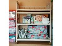 Baby changing table upcycled solid wood
