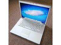 Macbook 15 inch Apple mac Pro laptop 4gb ram memory in full working order with backlit keyboard