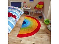 Colourful and Fun children's Rainbow Rug