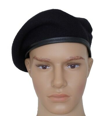 Cheap Military Hats (GI US Army Black Wool Beret Genuine Issue Military Beret With /Without Flash)