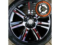 "17"" Genuine SE alloys VW Audi etc excel matching tyres."