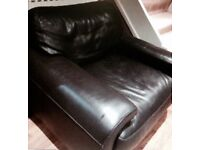 Real leather Arm chair