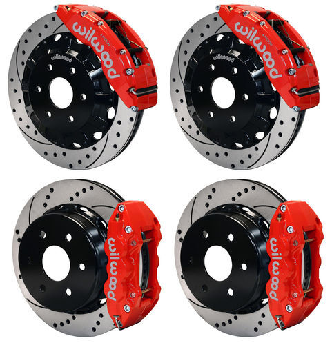 Wilwood Disc Brake Kit,gmc,chevy Truck 1500 2p,16/14,red Calipers,drilled Rotors