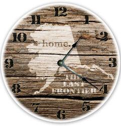 12 ALASKA STATE HOMELAND CLOCK - Large 12 inch Wall Clock - Printed Photo - AK