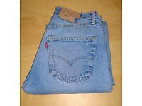 VINTAGE LEVI 501 W30 L33 DENIM JEANS RED TAB BLUE STRAIGHT LEG BUTTON FLY CLASSIC