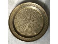 Solid Brass Intricate Tray Plate Coffee Table