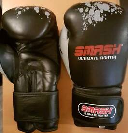 Real leather 12oz 16oz boxing gloves mma kickboxing martial arts fitness gym boxercise christmas
