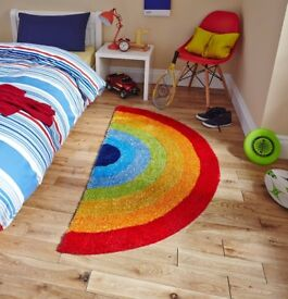 Think Rugs, Kids /Children's Rainbow Rug, 070 x 140, Colourful and Bright