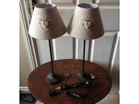 Pair of tall lights / Lamps with shades
