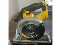 DeWalt DCS391N XR 165mm Circular Saw plus TSTAK storage box.