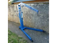 Weber - Fold-Away Engine Crane, Hoist. 1100 Kg Capacity. Top Quality Tool.