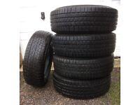 5 Almost New Winter Tyres (4 x Pirelli, 1 x Bridgestone)