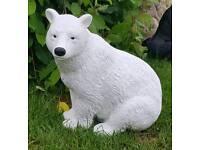 Polar bear; cast stone