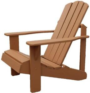 Canadian Cedar Wood Adirondack Muskoka Chair,Outdoor,Patio,Garden,Deck,Cottage Furniture - FREE SHIPPING
