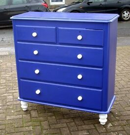 Stunning 2 over 3 Tall Victorian Chest of Drawers