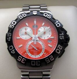 Tag Heuer F1 Formula One Chronograph Gents Watch Orange CAH1113 **Buy Online**
