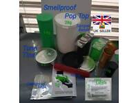 Smellproof Pop Top Medical Containers Tampers Dankproof