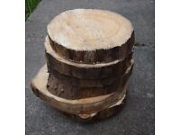 Rustic Log Slices reduced price