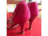 Irregular Choice unique pink heels size 6