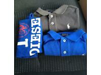 Ralph Lauren and Diesel T Shirts 3-4 years old boys. RRP £90
