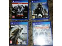 Games for sale PS4.