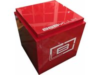 WHITE BLACK RED WOOD 20 30 40 50 60 CM DISPLAY TABLE PLINTH STAND EVENT EXHIBITION RETAIL SHOP