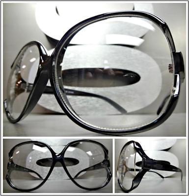 Übergröße Vintage Retro Stil Klarglas Brillen Jumbo Schwarz Mode Fassung