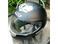 Crash Helmet / Motorbike, Motorcycle Matt Black Large Helmet