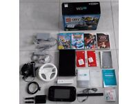 WII U consol 32GB in original box with games