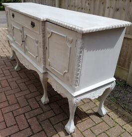 Antique shabby chic solid wooden sideboard with classic stylish finish
