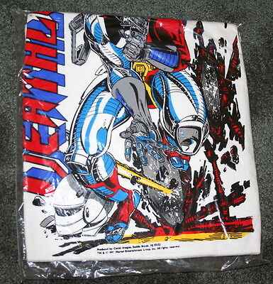 Vintage 1991 Marvel Deathlok Comics Comic Images M Sealed Bag T-Shirt New NOS