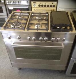 Professional Range 6 burner with hot plate all gas cooker.