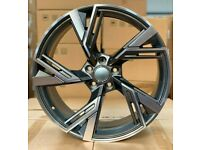x4 19 Inch RS6 2020 Style Alloy Wheels Et42 5x112 Audi TT A3 A4 Vw Golf Caddy