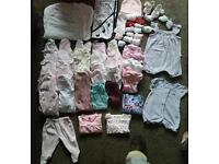 Baby girl bundle incl. Clothes, baby book & playmat/gym