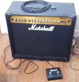 Marshall MG100DFX Solid State 100W Guitar Amplifier with Channel Footswitch